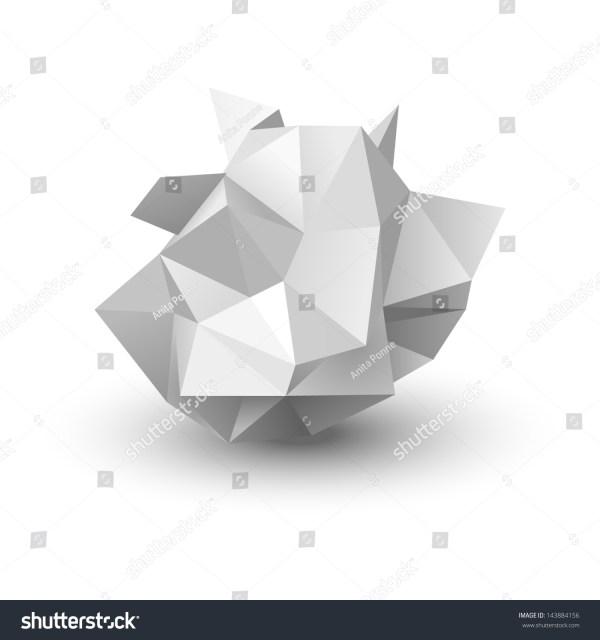 Crumpled Paper Vector Illustration Stock Vector 143884156
