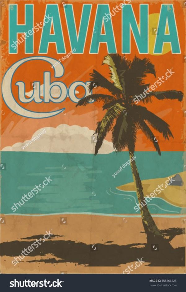Cuba Havana Poster Illustration - 458466325 Shutterstock