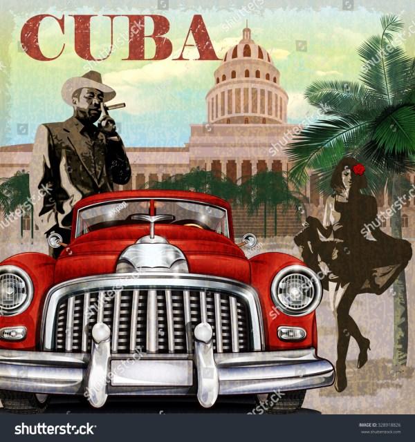 Cuba Retro Poster. Stock Vector Illustration 328918826