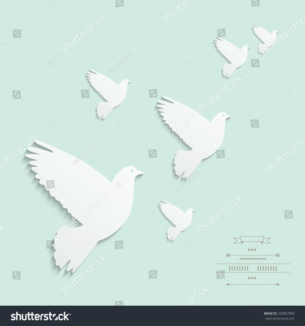 Peace Dove Silhouette Pattern - Year of Clean Water