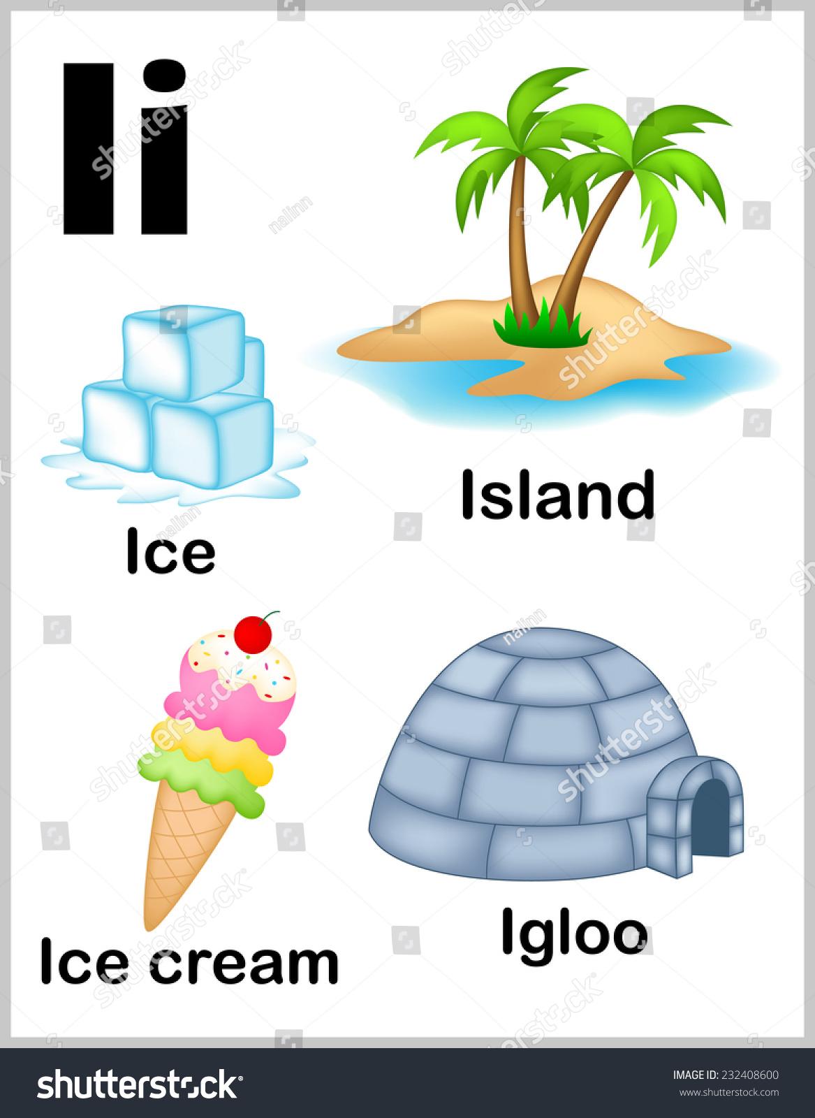 Cute Colorful Alphabet Letter Set Illustrations Stock