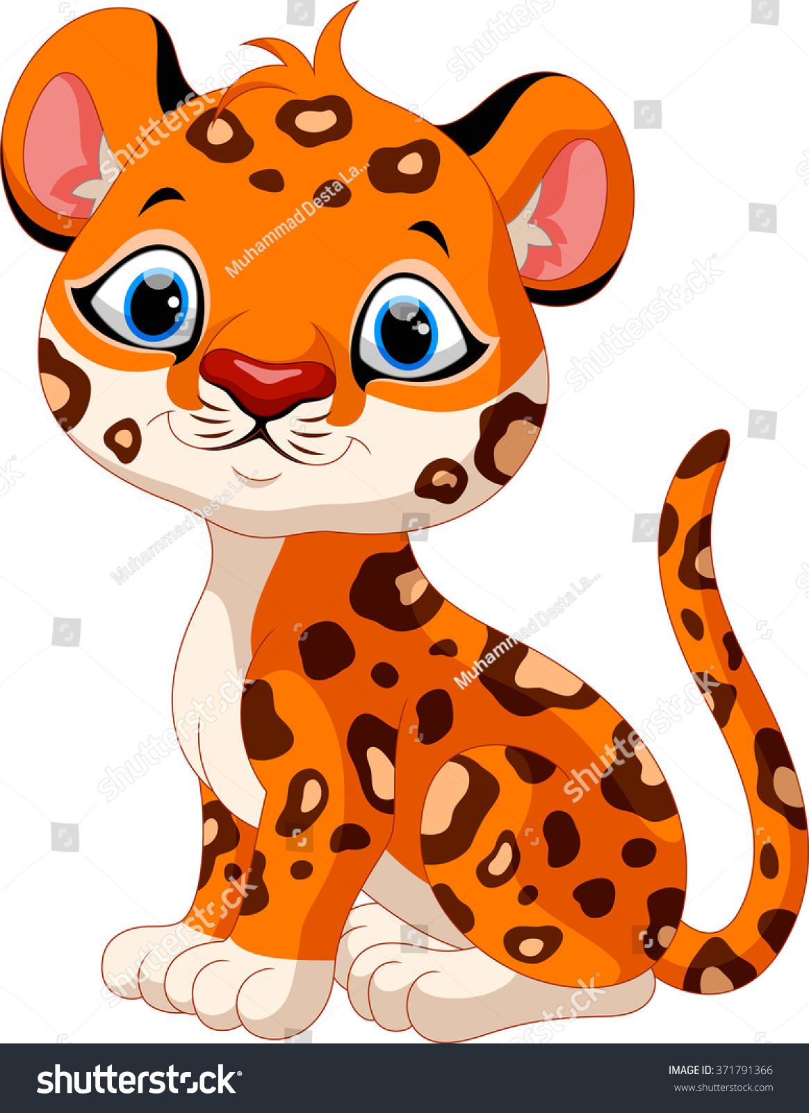 Sitting Cartoon Leopard