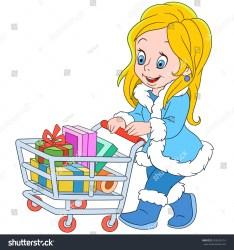 Cute Shopping Cartoon