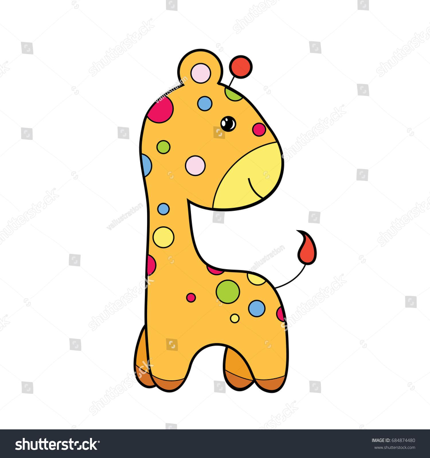 hight resolution of cute giraffe clipart coloring activity vector illustration