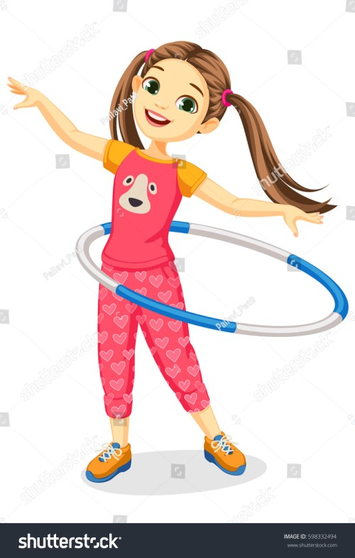 small resolution of cute happy girl with hula hoop