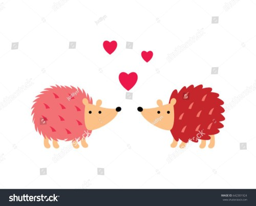 small resolution of cute hedgehog in love vector cute porcupine valentine greeting card vector hedgehog love clipart