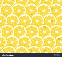 Cute Lemon, Orange Slice Design Seamless, Pattern ...