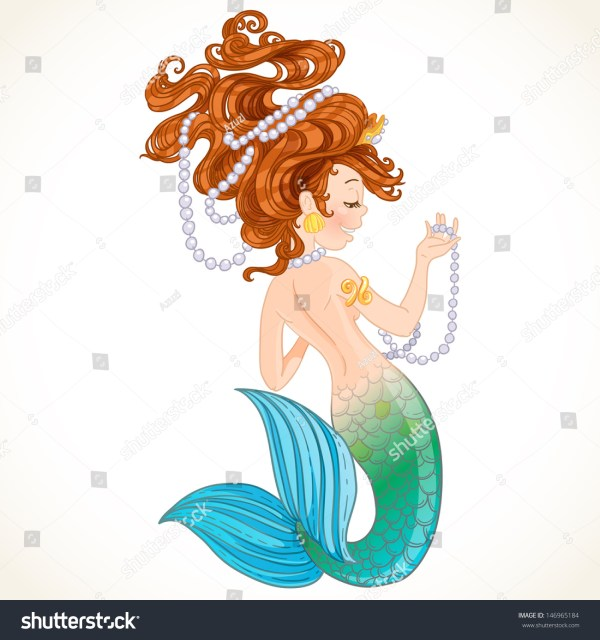 Mermaid Tail Art with Pearls