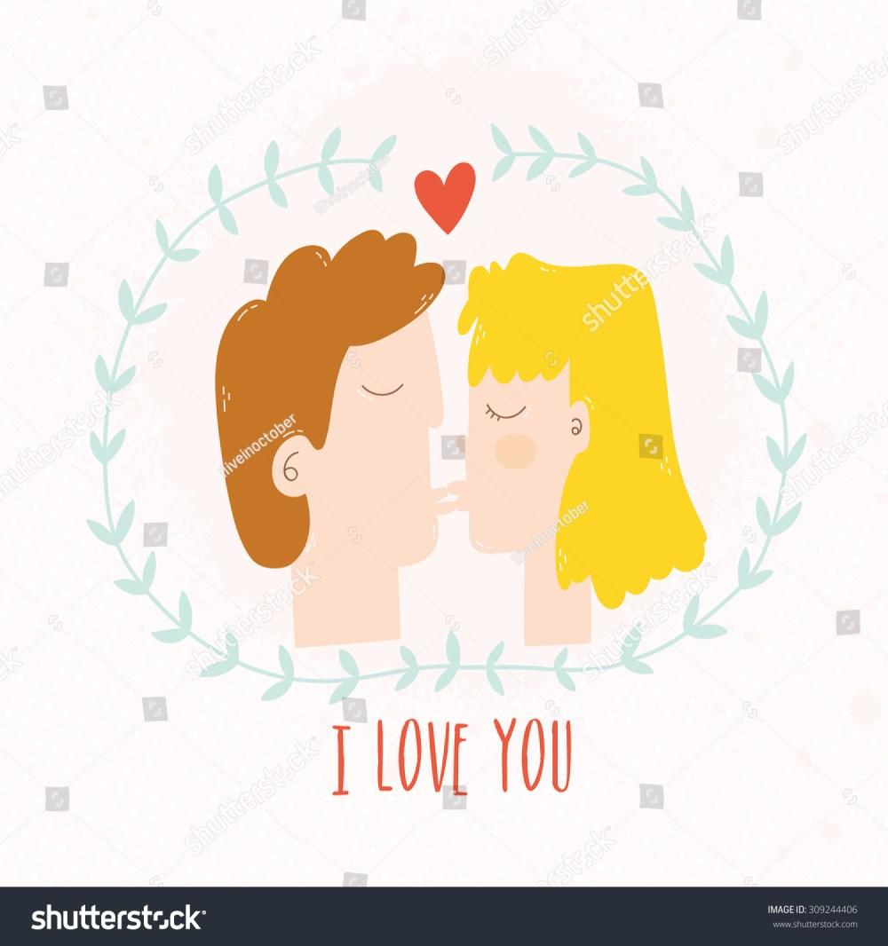 medium resolution of girl and boy kissing cartoon illustration vector flat kiss