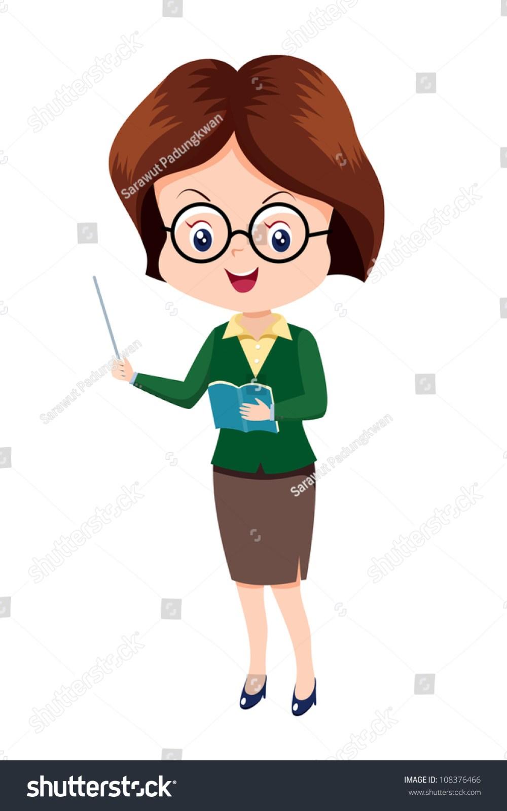 medium resolution of cute woman teacher