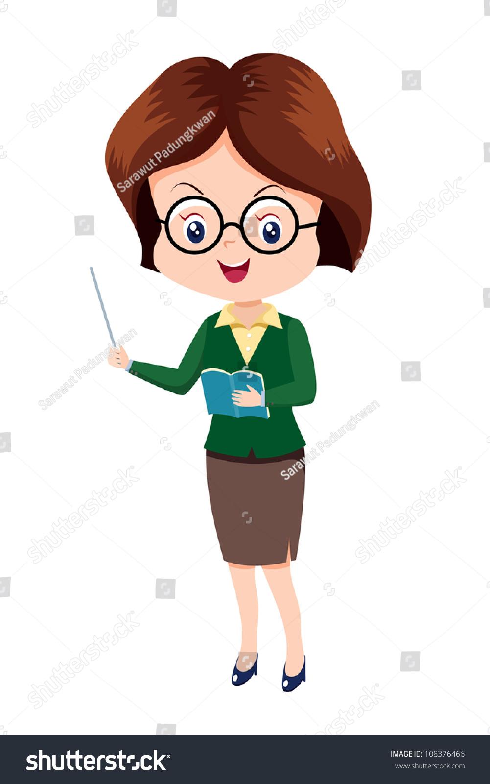 hight resolution of cute woman teacher