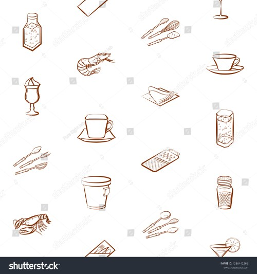 small resolution of cutlery drinks seafood and table setting set background for printing design