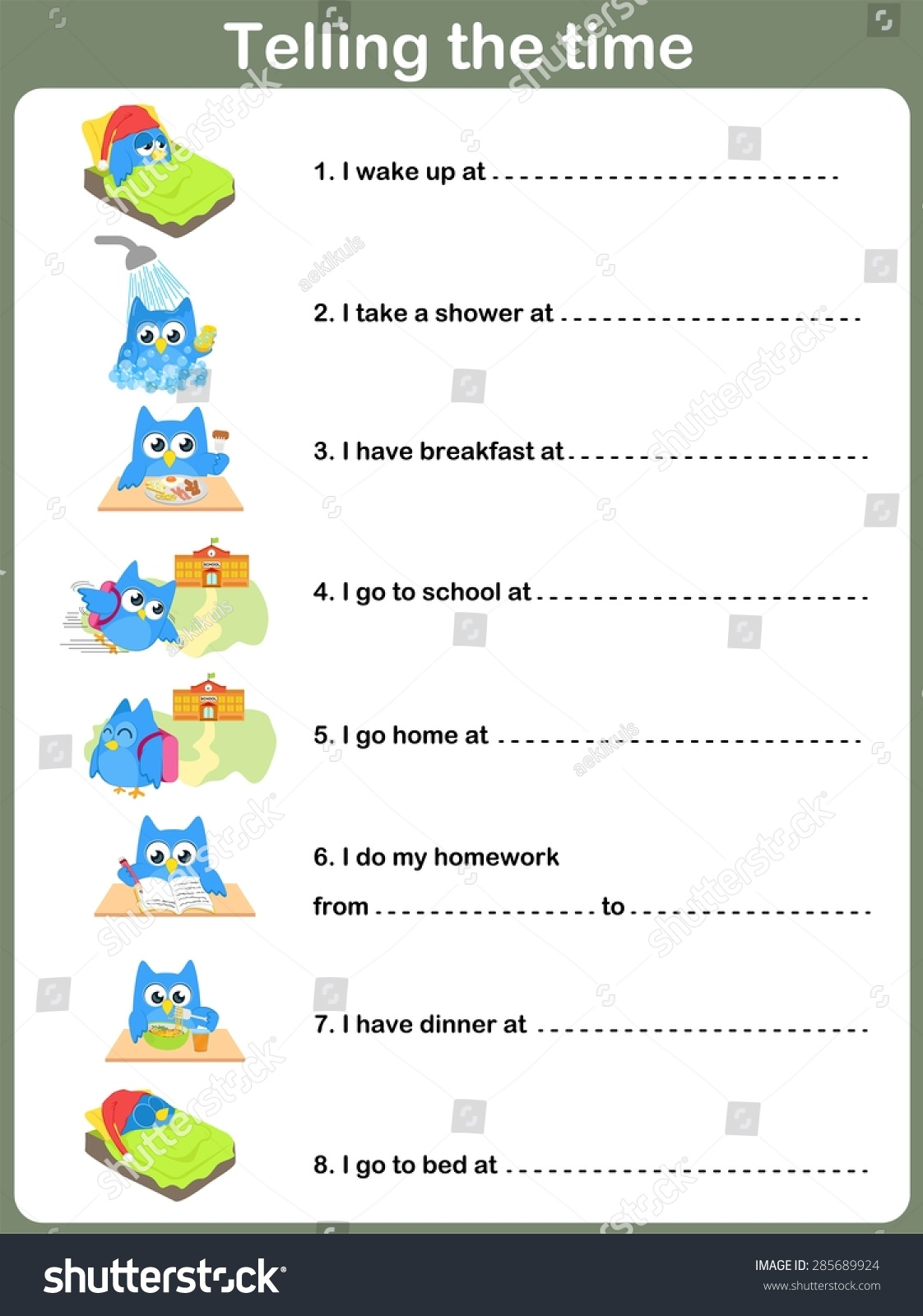 Daily Routines Worksheet