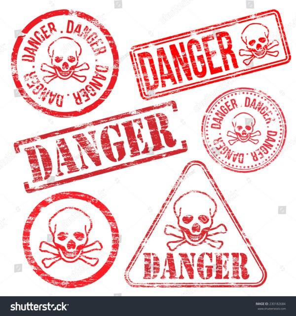 Danger Stamps Different Shape Vector Rubber Stamp