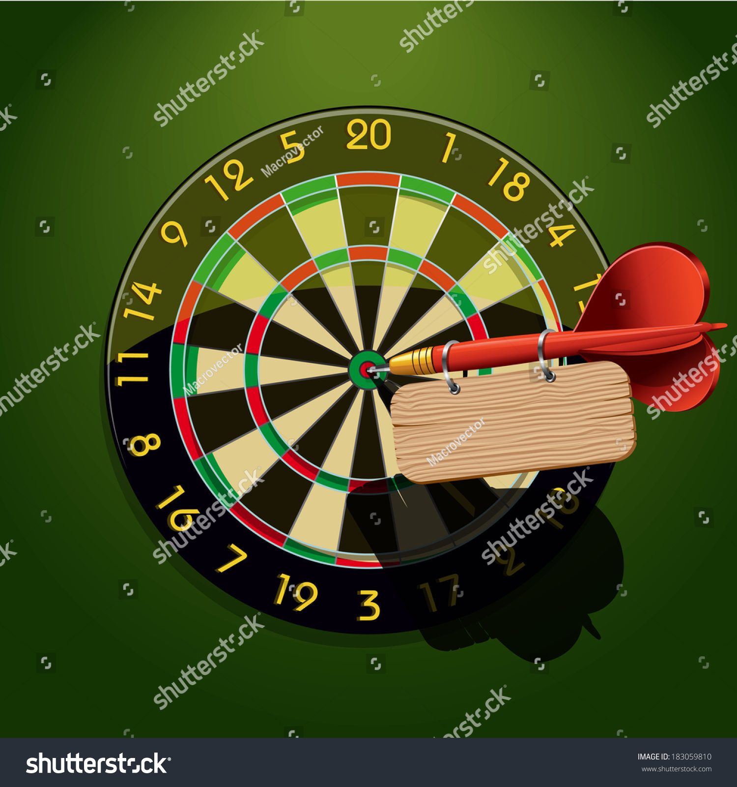 Dartboard Dart Blank Table Template Center Stock Vector 183059810 ...
