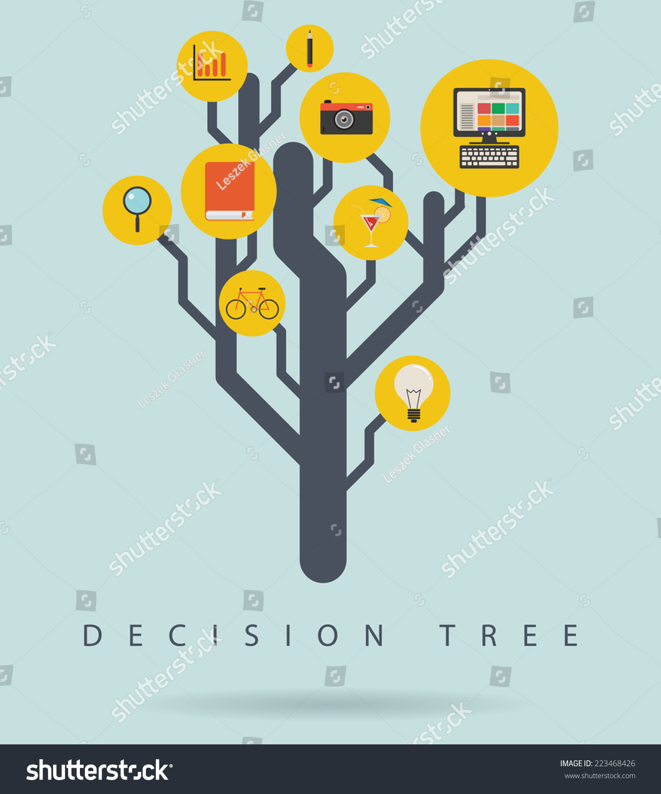 shrub graphic symbols diagram 2004 nissan sentra radio wiring decision tree infographic icons vector stock