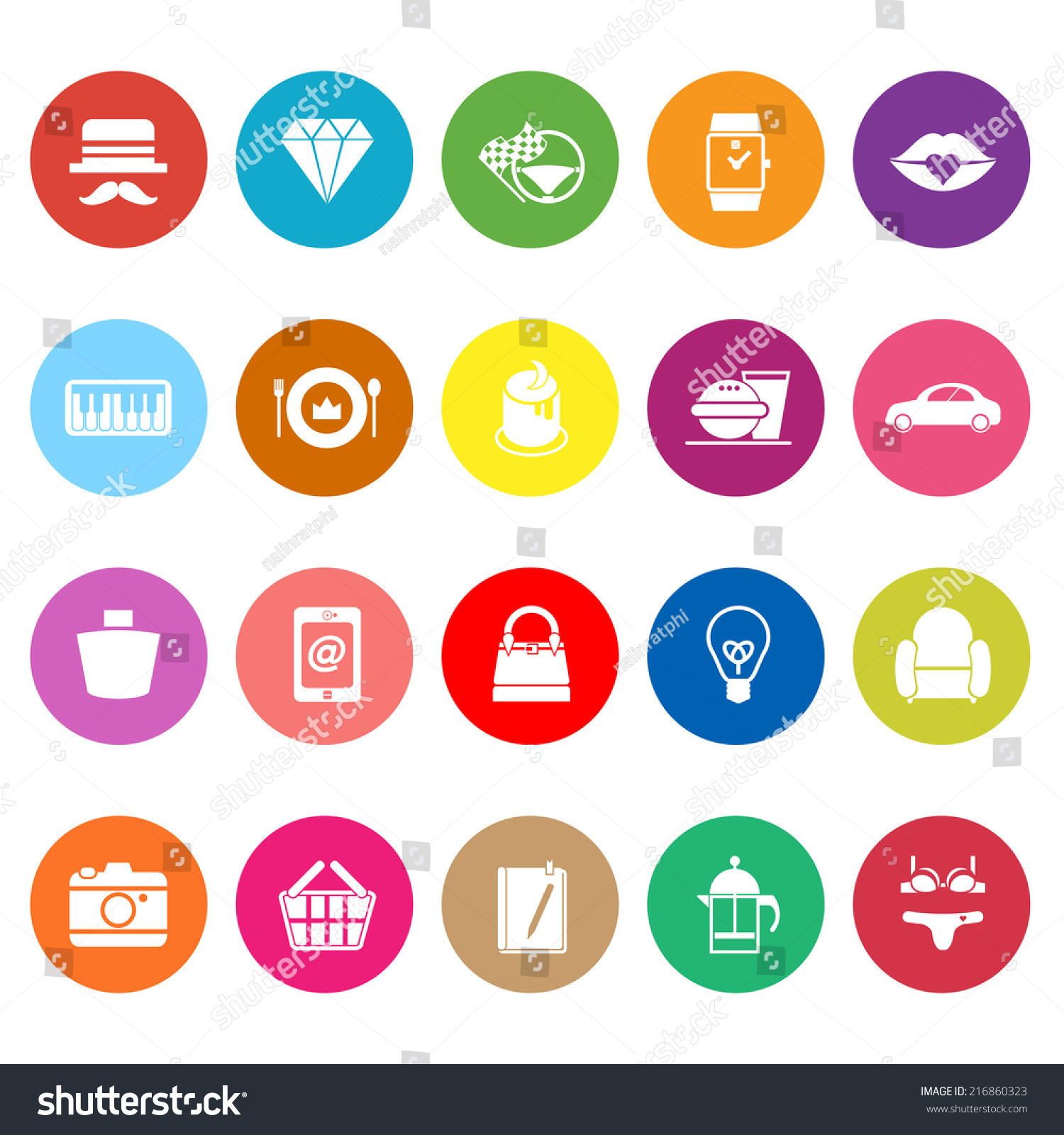 Department Store Item Category Flat Icons Stock Vector 216860323