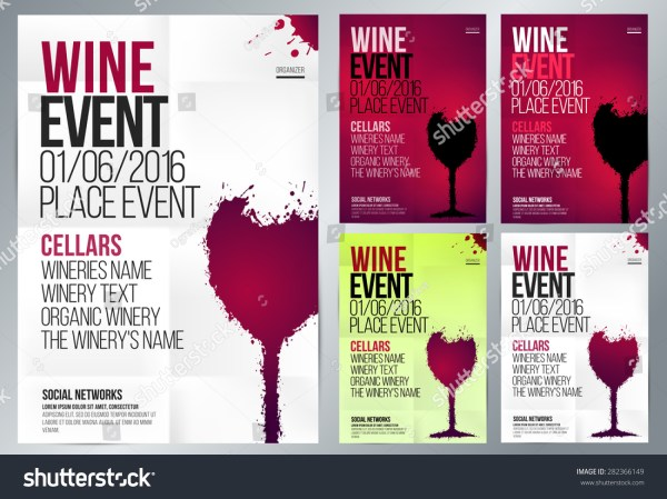 Design Wine Event Suitable Poster Promotional Stock Vector 282366149 - Shutterstock