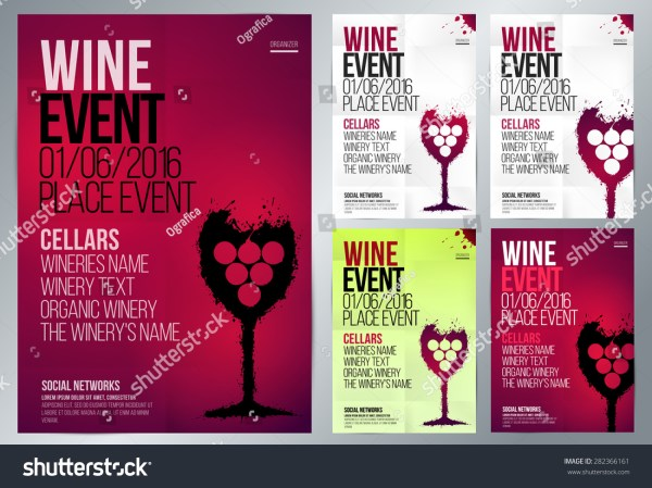 Design Wine Event Suitable Poster Promotional Stock Vector 282366161 - Shutterstock