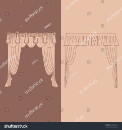 design ideas realistic icons collection isolated vector illustration curtains and draperies interior decoration [ 1500 x 1600 Pixel ]