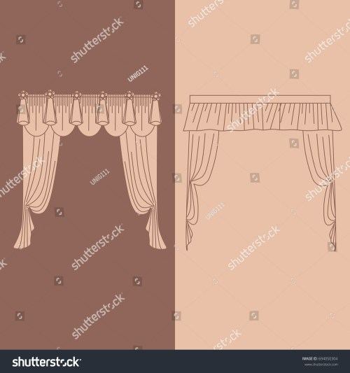 small resolution of design ideas realistic icons collection isolated vector illustration curtains and draperies interior decoration