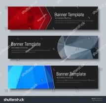 Design Horizontal Banners Standard Size Template Stock