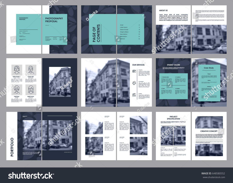Design Photography Proposal, Vector Template Brochures, Flyers,  Presentations, Leaflet, Magazine A4