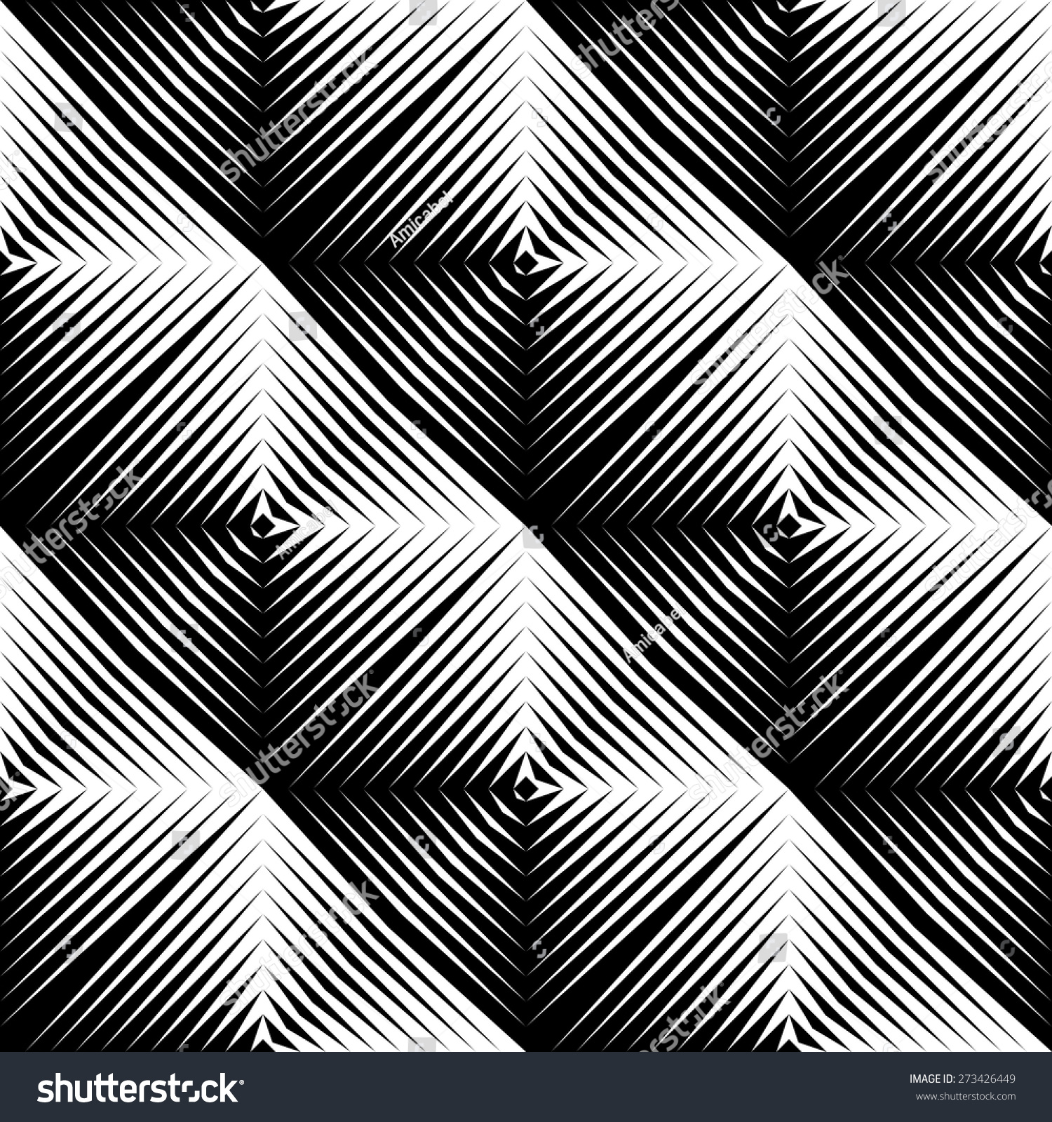 Design Seamless Square Convex Pattern Abstract Geometric