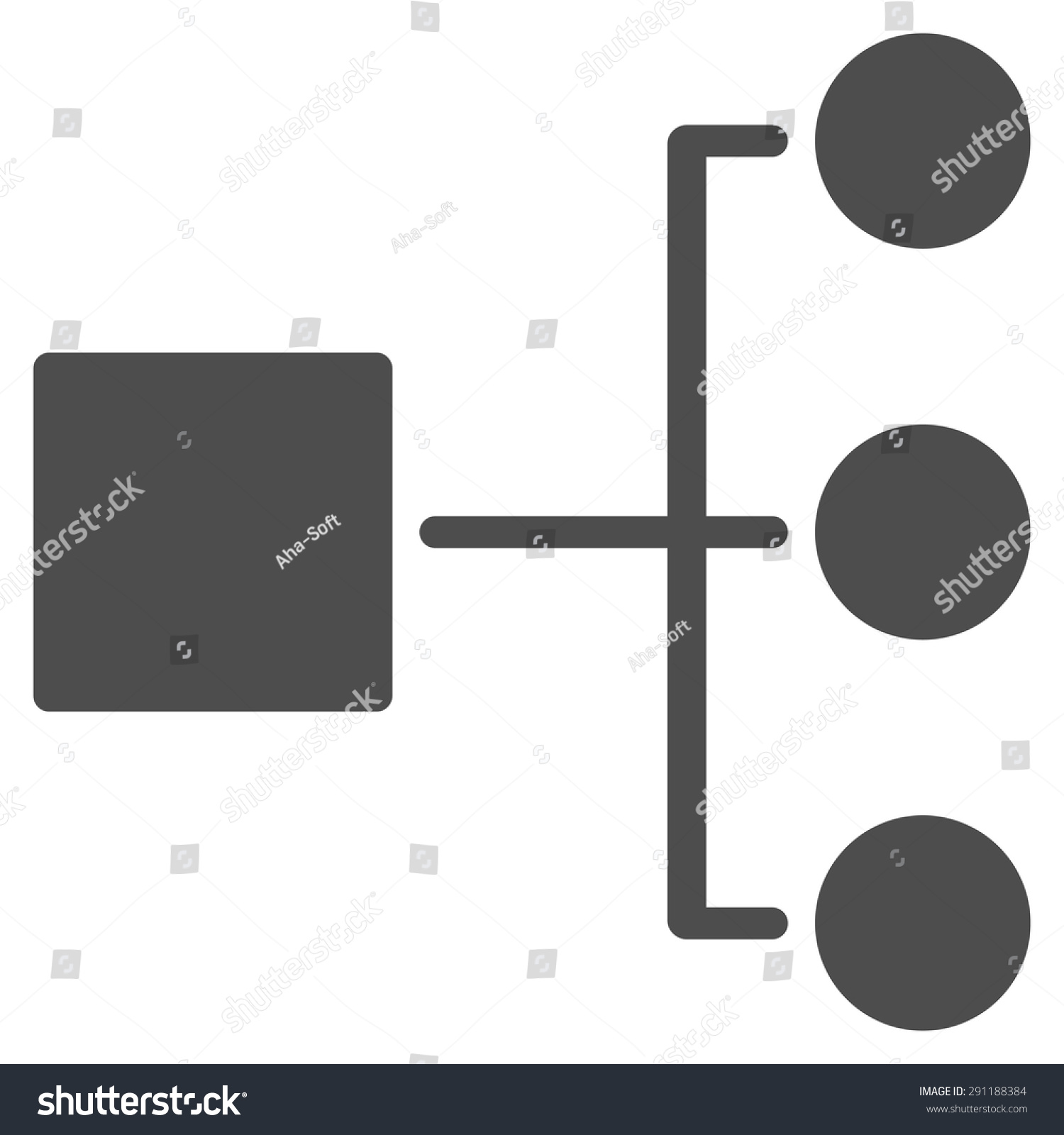 hight resolution of diagram icon from commerce set vector style flat symbol gray color rounded