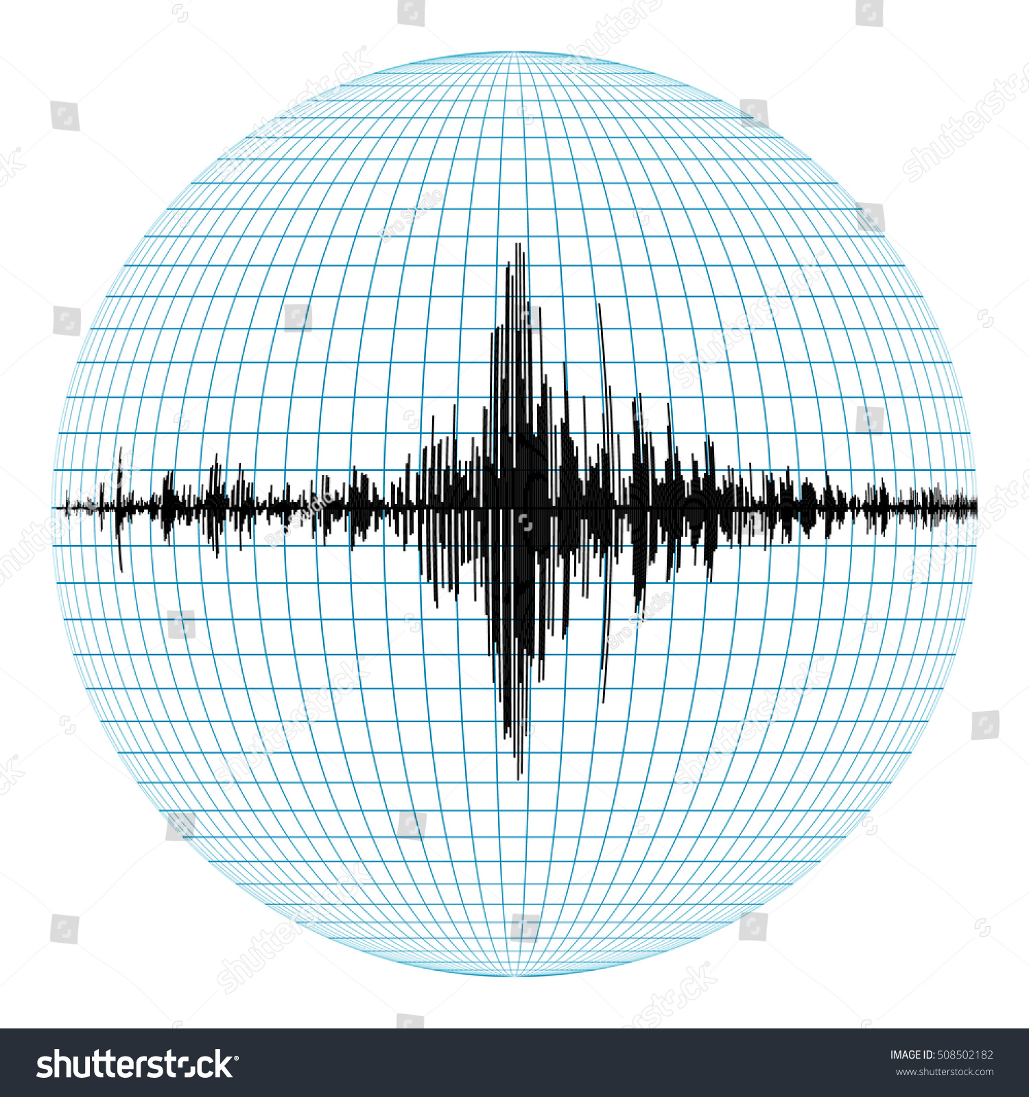 Diagram Earthquakes On Planet Earth Concept Stock Vector