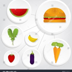Strawberry Fruit Diagram Home Wiring Vegetables Fruits Hamburger Interconnected Icons