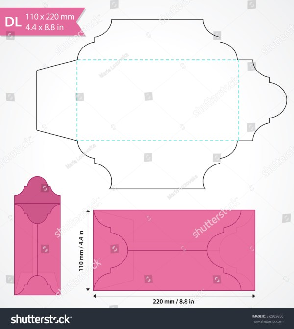 Invitation Size Envelope Template