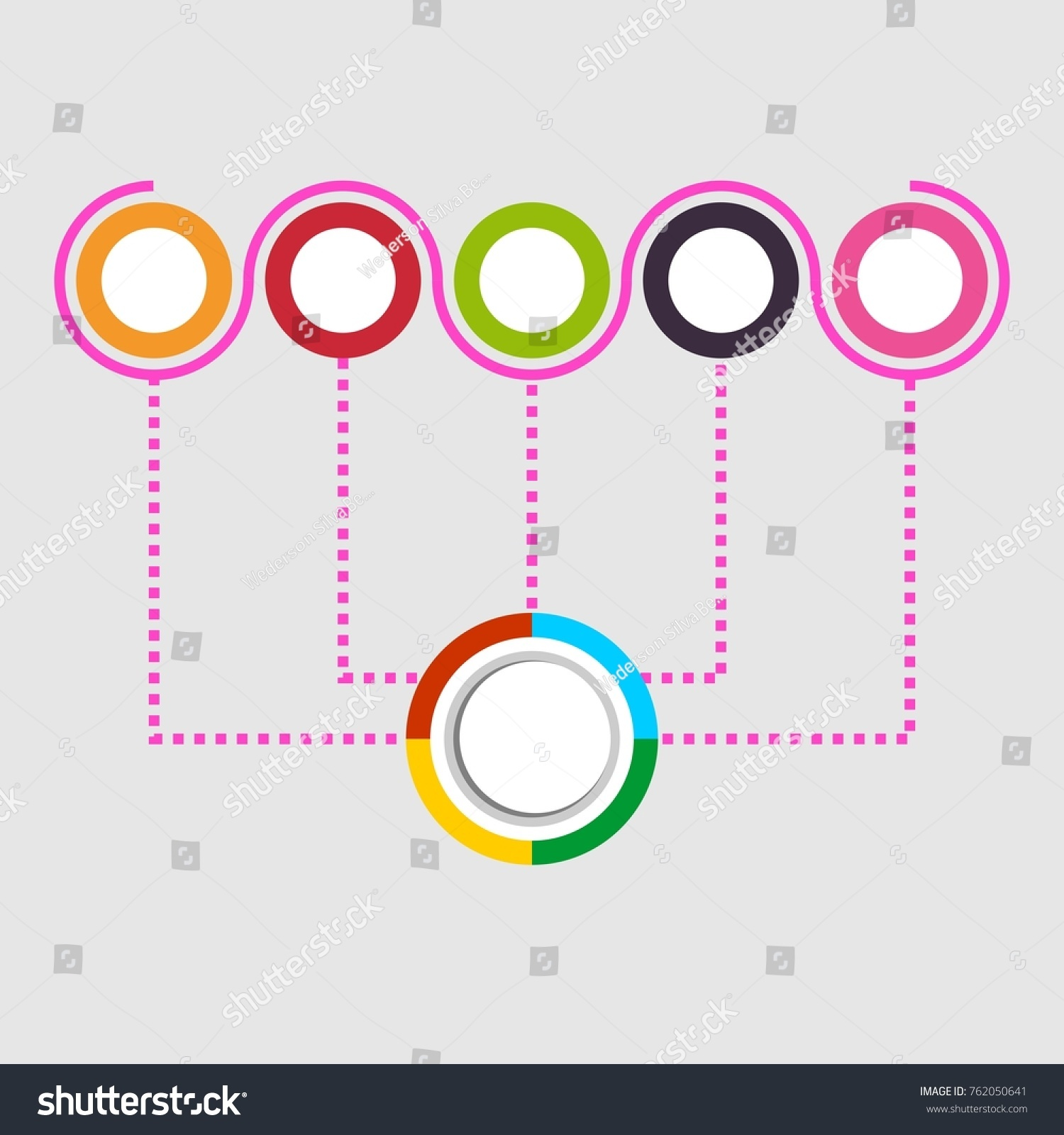 hight resolution of digital diagram style diagram and flow chart of technology concept presentation vector illustration