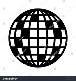 disco ball mirror or glitter ball flat vector icon for music apps and websites [ 1500 x 1600 Pixel ]