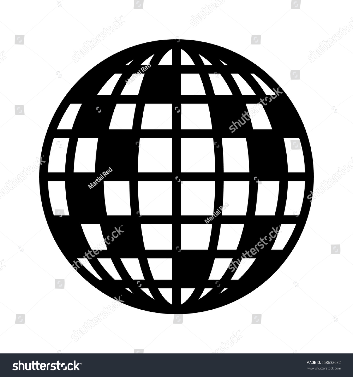 hight resolution of disco ball mirror or glitter ball flat vector icon for music apps and websites