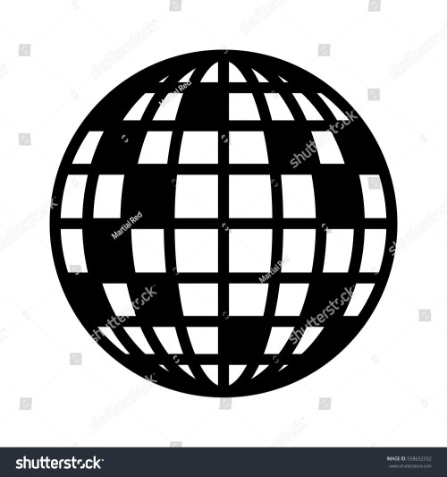 small resolution of disco ball mirror or glitter ball flat vector icon for music apps and websites