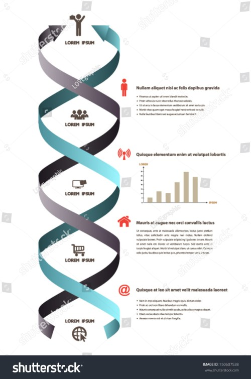 small resolution of dna ribbon banner icons science infographics stock vector royalty rh shutterstock com dna replication diagram dna model