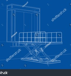 dock leveler concept vector rendering of 3d wire frame style the layers [ 1500 x 1111 Pixel ]