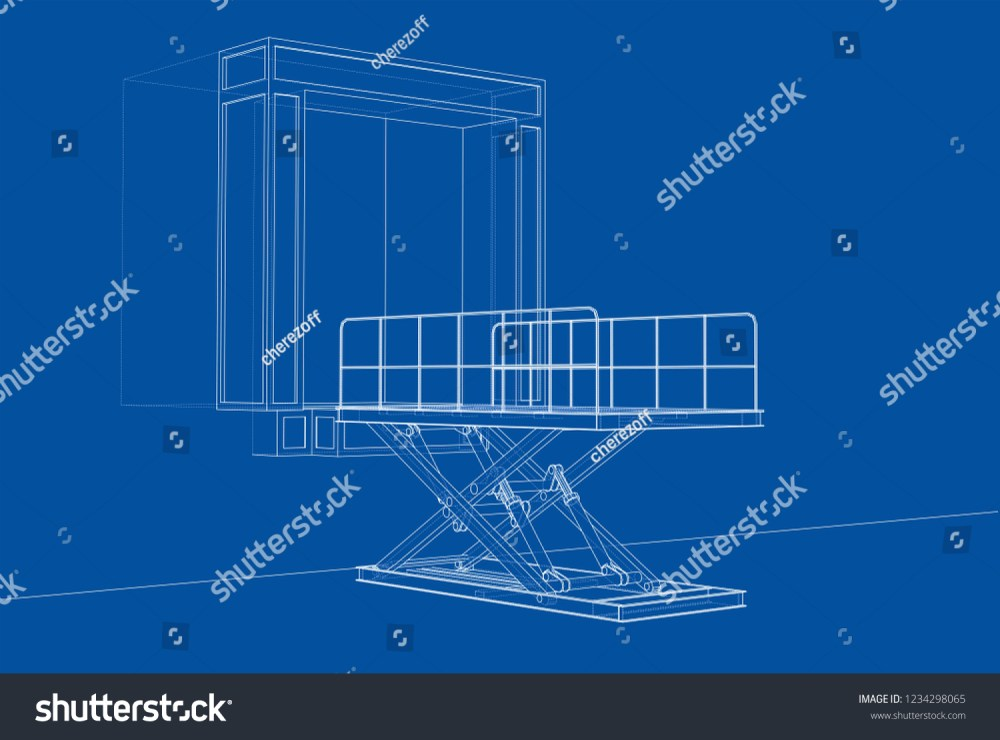 medium resolution of dock leveler concept vector rendering of 3d wire frame style the layers