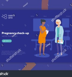 doctor and pregnant woman vector illustration flat style medical pregnancy check  [ 1500 x 1129 Pixel ]