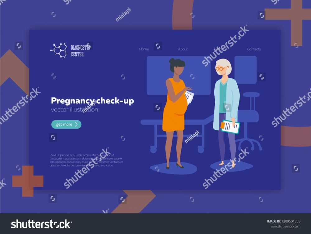 medium resolution of doctor and pregnant woman vector illustration flat style medical pregnancy check