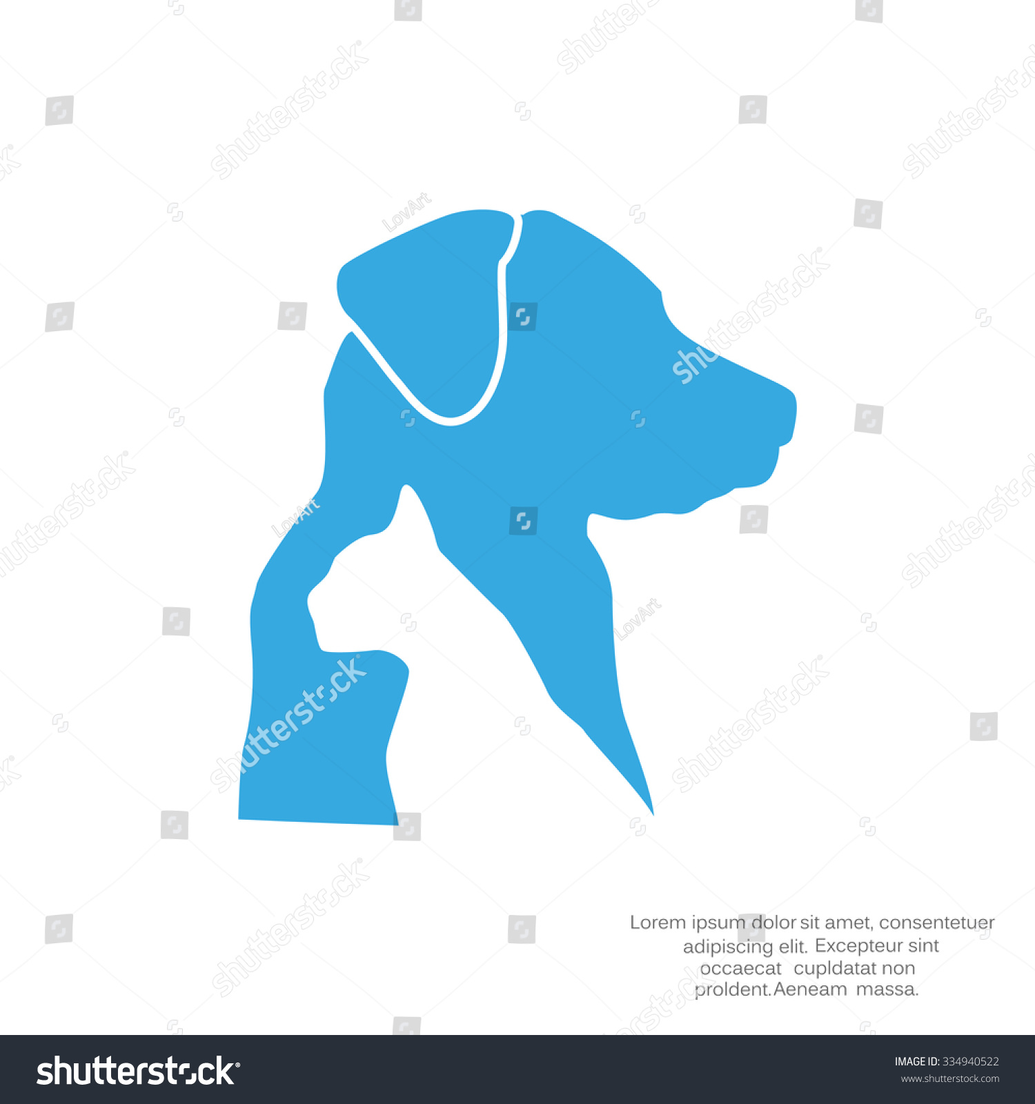hight resolution of dog and cat veterinary vector icon