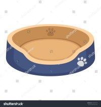 Dog Bed Stock Vector Illustration 255070519 : Shutterstock