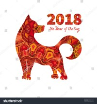 Dog Symbol 2018 Chinese New Year Stock Vector 699387811 ...