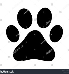 dog or cat paw print flat vector icon for animal apps and websites [ 1500 x 1450 Pixel ]