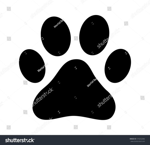 small resolution of dog or cat paw print flat vector icon for animal apps and websites