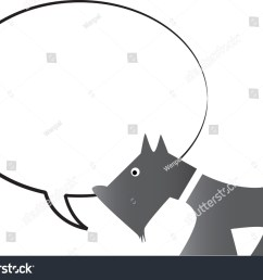 dog with blank speech bubble [ 1500 x 1158 Pixel ]