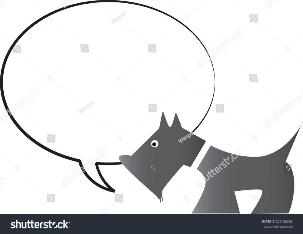medium resolution of dog with blank speech bubble