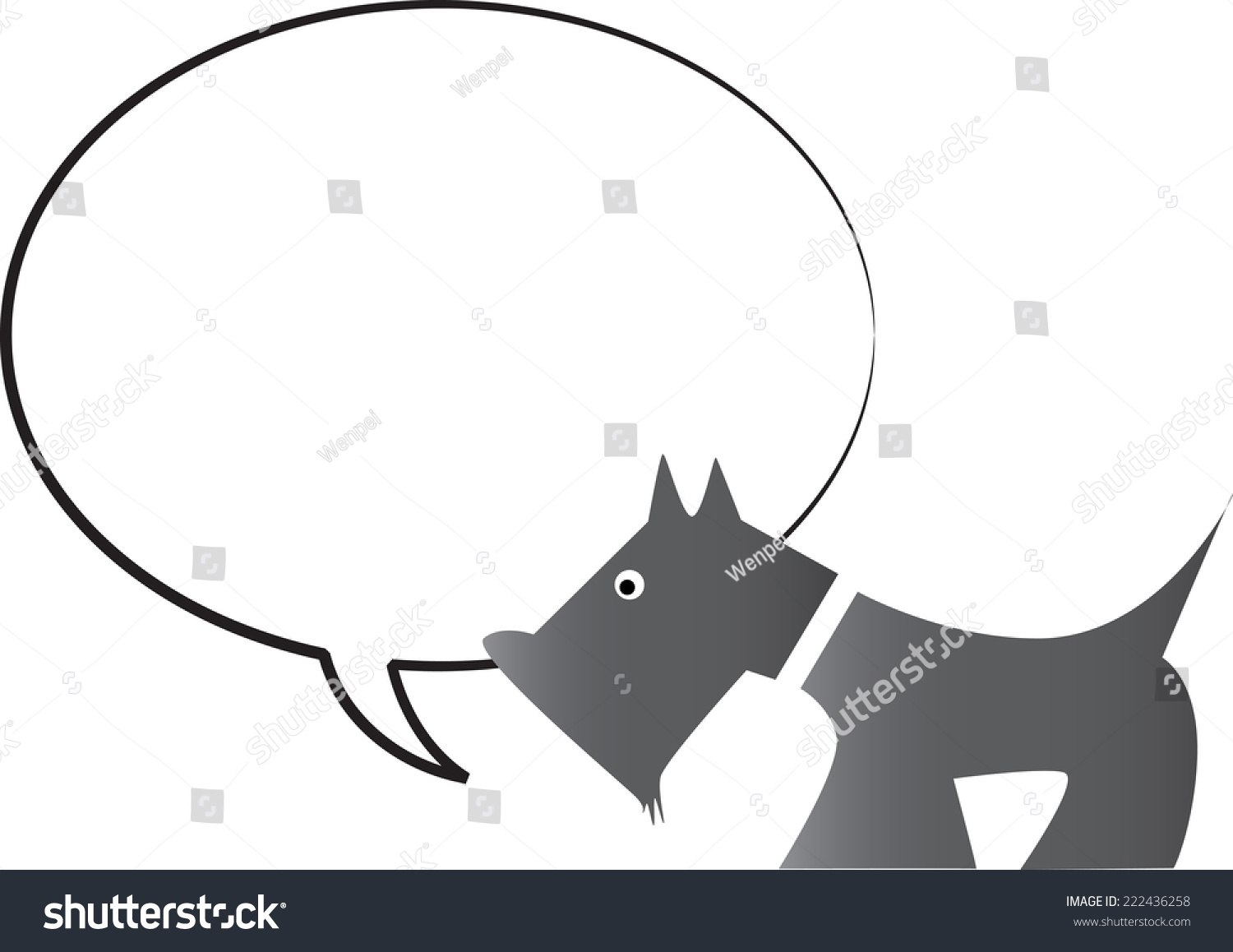 hight resolution of dog with blank speech bubble