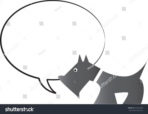 small resolution of dog with blank speech bubble